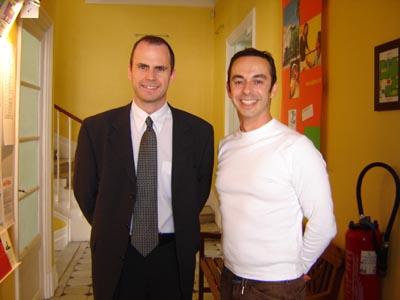 David Jones of International Contacts visiting Alpha B in Nice.